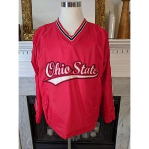 Steve & Barry's Red Ohio State Pullover Jacket Med